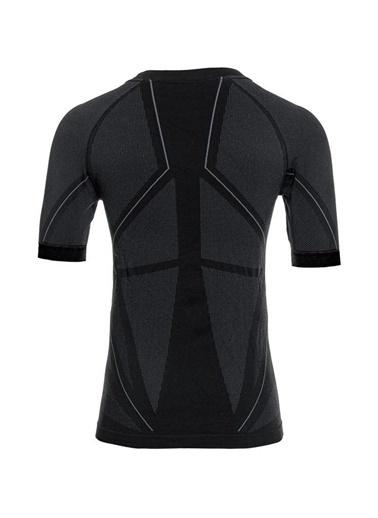 Panthzer  Extreme Muscle Kısa Kollu Polygiene Erkek Üst Içlik Siyah/Gri Renkli
